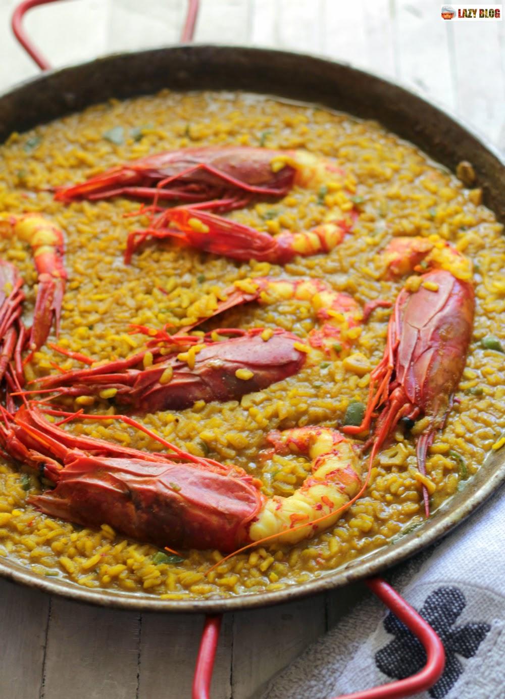 Lazy blog receta de arroz con carabineros for Cocinar 2 tazas de arroz
