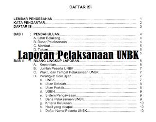 Laporan kegiatan UNBK