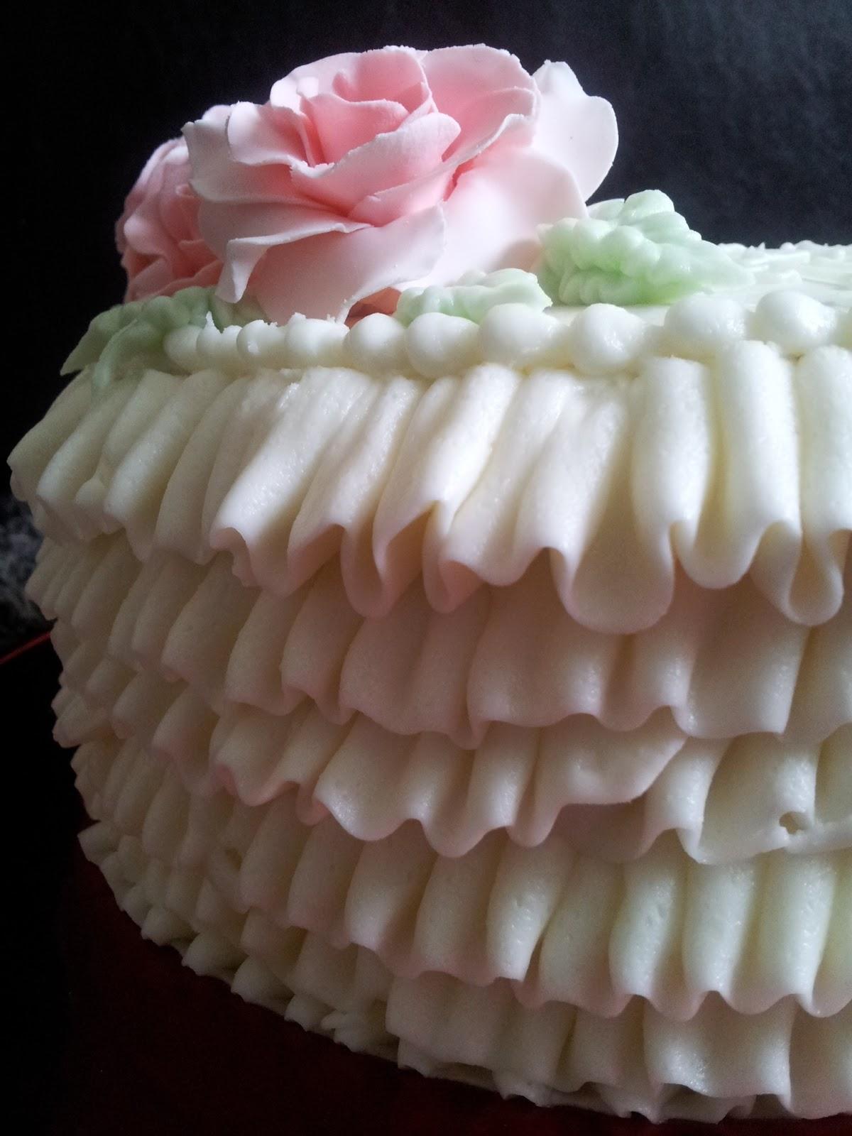 Kiddles N Bits Buttercream Ruffle Cake For My Sister