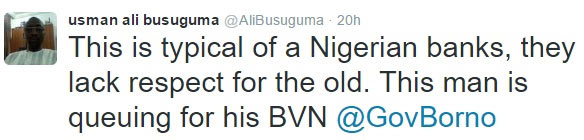 Aged man collapses during BVN registration in Borno