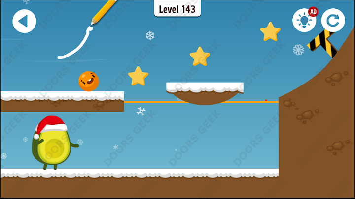 Where's My Avocado? Level 143 Solution, Cheats, Walkthrough, 3 Stars for Android, iPhone, iPad and iPod