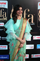Samantha Ruth Prabhu Smiling Beauty in strange Designer Saree at IIFA Utsavam Awards 2017  Day 2  Exclusive 06.JPG