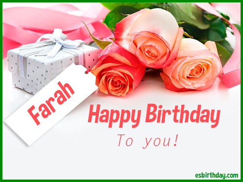 Happy Birthday Farah