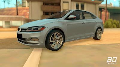 Download do mod Volkswagen Polo 2019 para o jogo GTA San Andreas PC dianteira