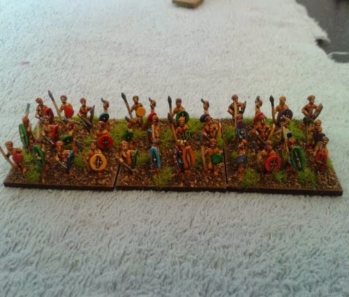 Here's a Gallic/Celtic warband painted by a very good friend Malcolm Taylor picture 1