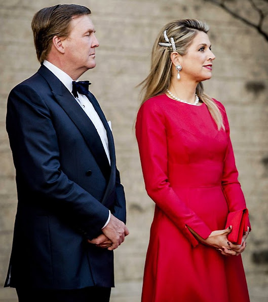 King Willem-Alexander and Queen Maxima of The Netherlands offered an concert performed by Holland Baroque Society to Governor General Johnston at the Museum of History