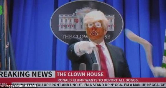 Donald Trump slams Snopp Dogg for shooting a clown 'that looks like him' with fake gun in new music video 3