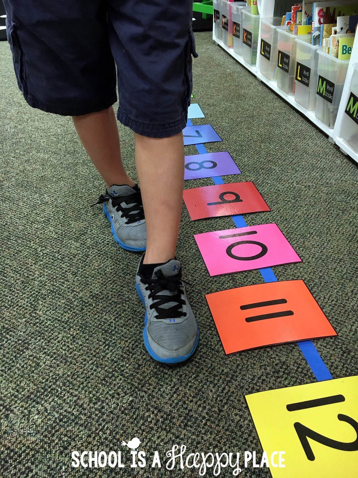 School is a happy place free number line activities your for Floor number line