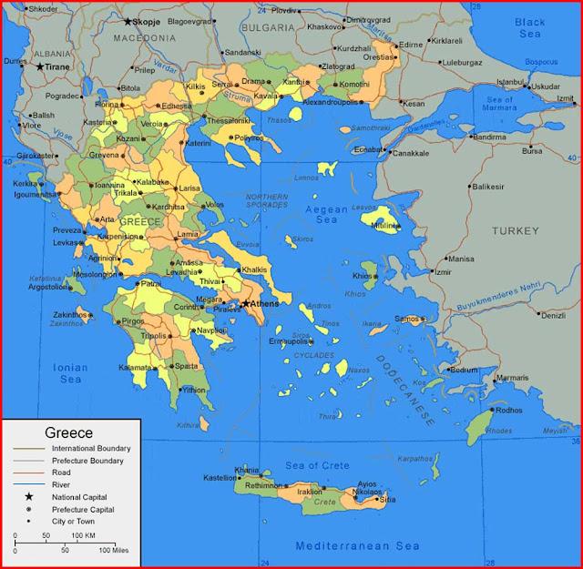 Gambar Peta Yunani