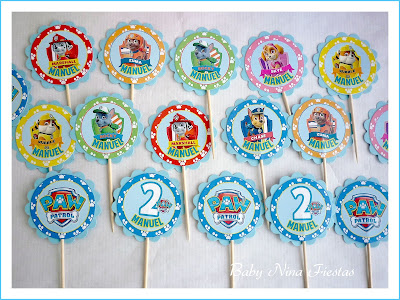 toppers cupcakes paw patrol