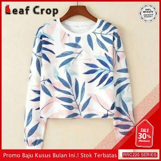 RRC220L40 Leaf Crop Wanita Terbaru BMGShop