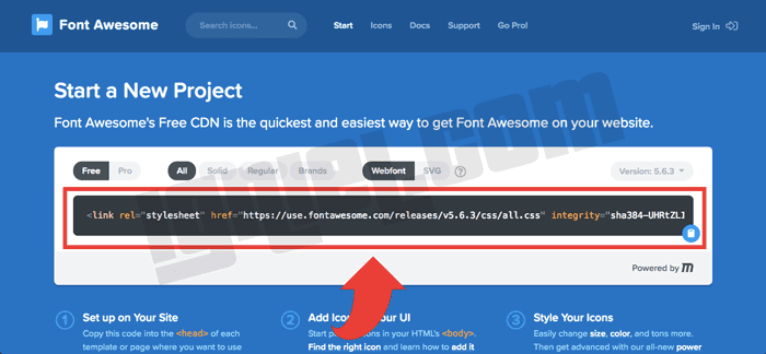 Menggunakan Font Awesome Untuk Membuat Ikon Blog