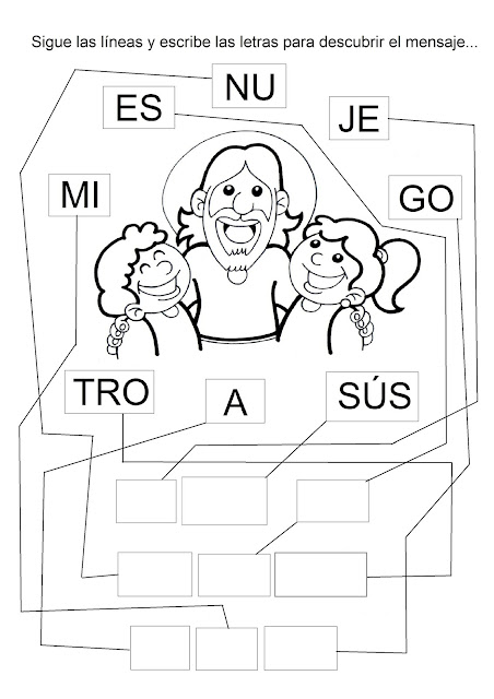 La Catequesis El Blog De Sandra Dibujos Para Colorear Jesús Con