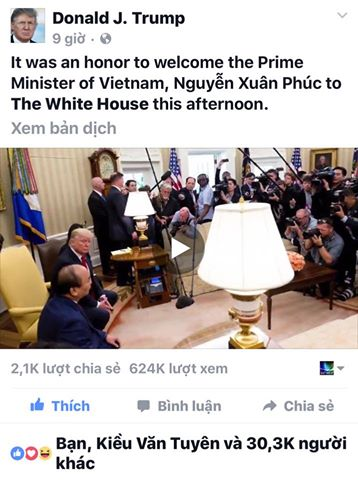 Cờ Vàng bị người Mỹ sỉ nhục vì xúc phạm Thủ tướng Việt Nam
