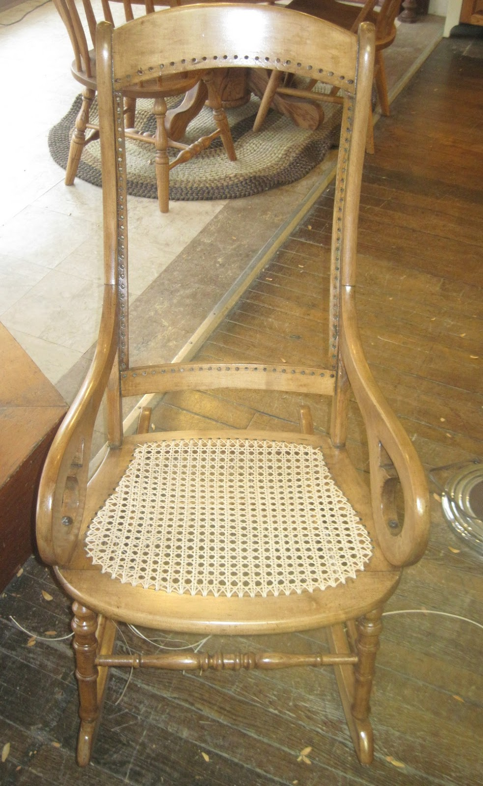 how to recane a chair table and 10 chairs b & c emporium antiques original hardware