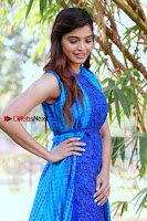 Tamil Actress Sanchita Shetty Latest Pos in Blue Dress at Yenda Thalaiyila Yenna Vekkala Audio Launch  0009.jpg
