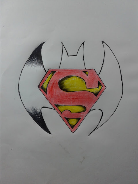 batman vs Superman logo 3D