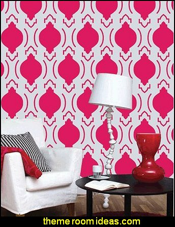 Moroccan Wall Painting Stencil.