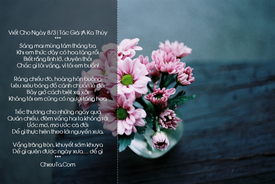 Thơ Chúc 8/3 - Chùm Thơ Tặng Chị Em Phụ Nữ Ngày 8/3 Hay & Ý Nghĩa