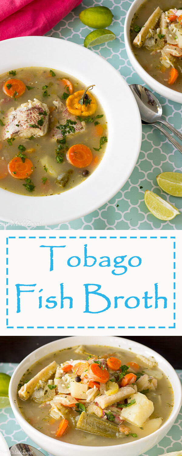 Recipe for making Trinidad Fish Soup