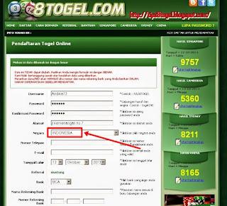 PENDAFTARAN TOGEL ONLINE: CARA DAFTAR di www.8togel.com ...