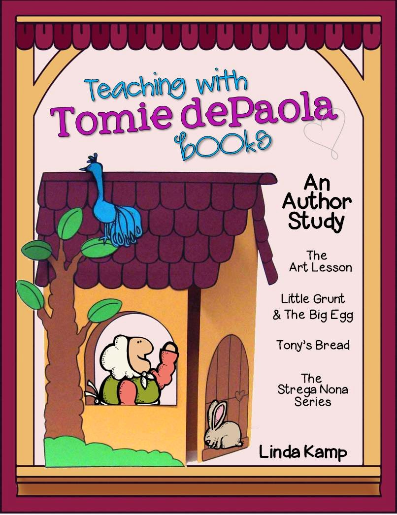 Tomie dePaola author study by Linda Kamp on TeachersPayTeachers.com