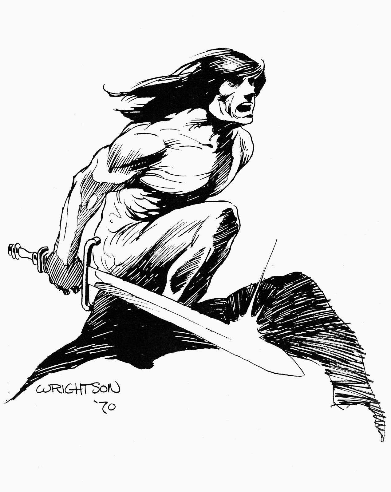 Cap'n's Comics: Conan Black'n whites by Berni Wrightson