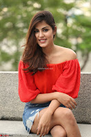 Rhea Chakraborty in Red Crop Top and Denim Shorts Spicy Pics ~  Exclusive 020.JPG