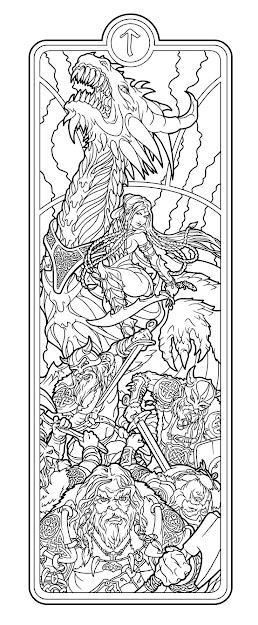 Helheim Battlemaid Lines By Deviantashtarethdeviantart On Deviantart Adult  Coloring Pagescolouring