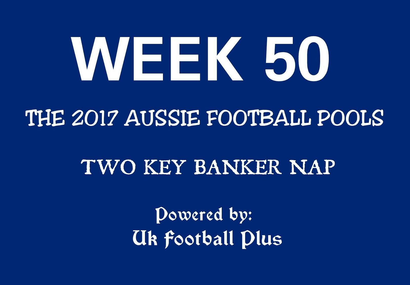 WEEK 50: AUSSIE FOOTBALL POOLS | 24-06-2017 | www