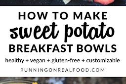 Peanut Butter Berry Sweet Potato Breakfast Bowls