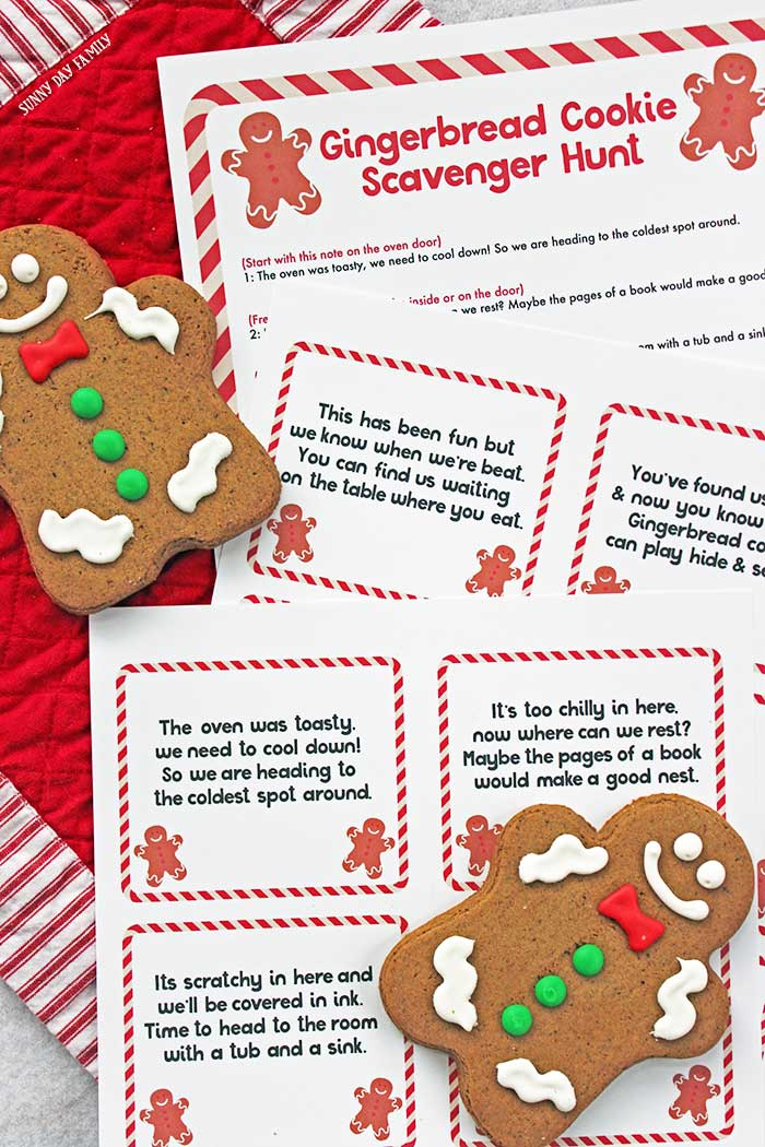 image regarding Gingerbread Man Story Printable referred to as Cost-free Printable Gingerbread Guy Scavenger Hunt Sunny Working day Family members