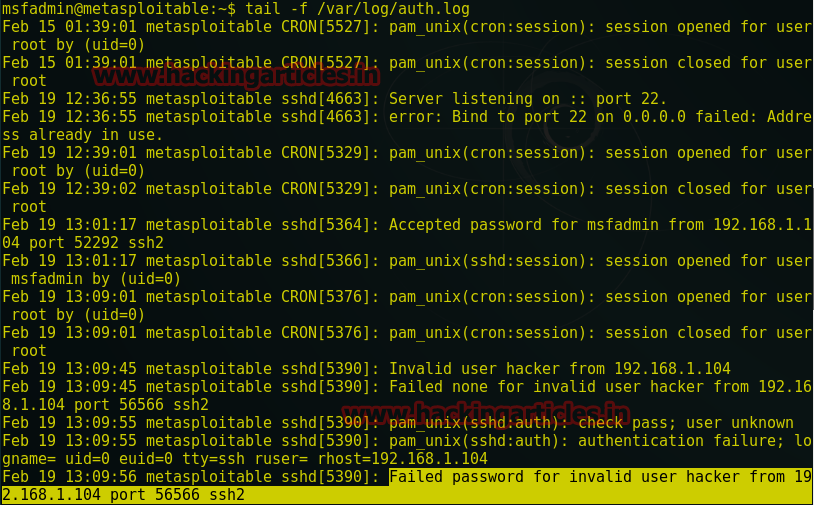 Web Server Exploitation with SSH Log Poisoning through LFI