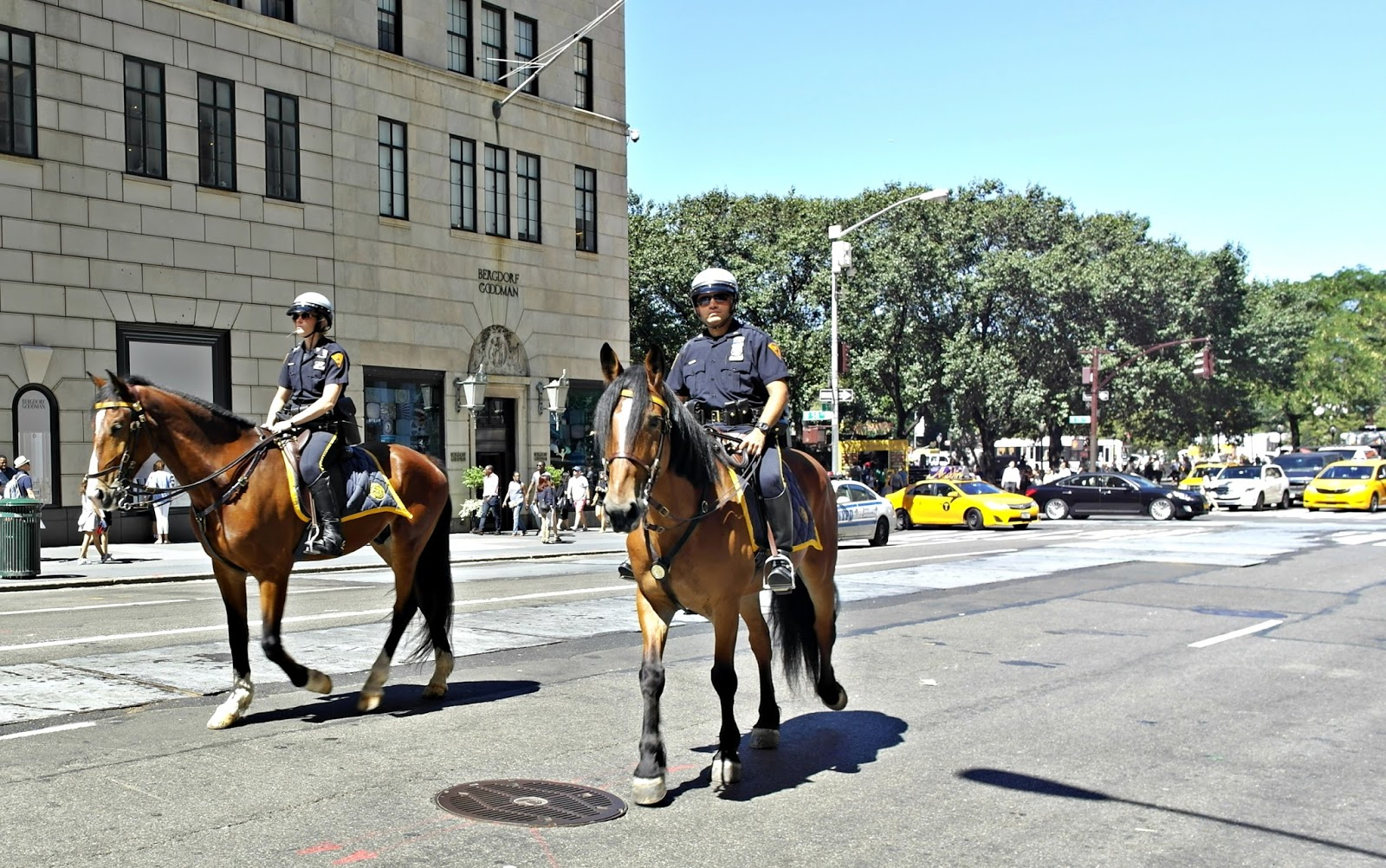 new york police officers on horses
