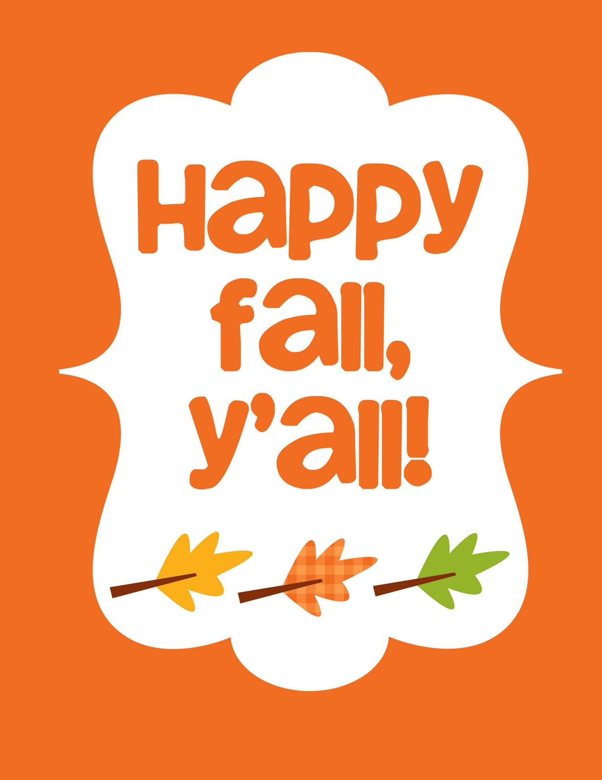 Inspired Whims: Happy Fall, Y'all! (Free Printable)