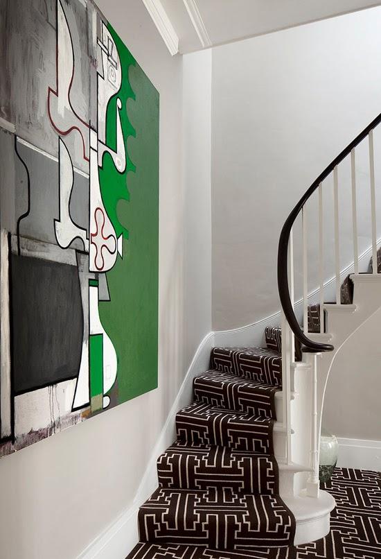 Safari Fusion blog   Obsession: Mud cloth   Bogolan inspired geometric carpet in a London home via Bruce Norman Interior Design