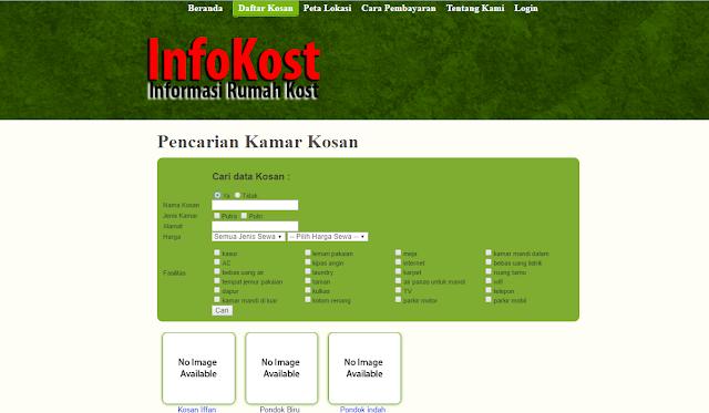daftar%2Bkosan - Source Code Aplikasi Sistem Informasi Kost Berbasis Web