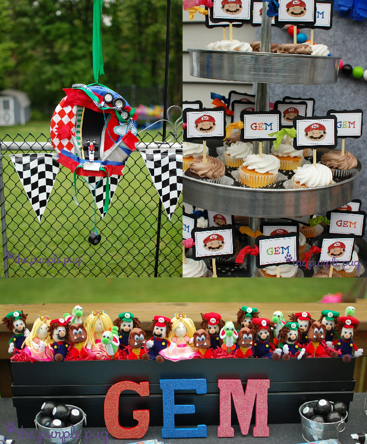 Mario Kart Mustache Mania Birthday Party - via BirdsParty.com