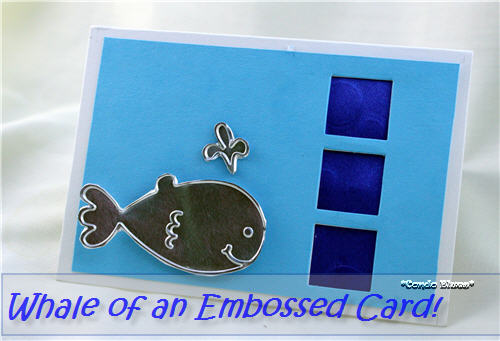 Condo Blues: How to Emboss Ribbon with a Sizzix Big Shot
