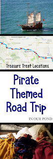 Pirate-Themed Road Trip for Kids from In Our Pond #family #roadtrip #travel #partyonwheels #party #pirateparty #roadtripwithkids #travelwithkids #travelhacks #traveltips