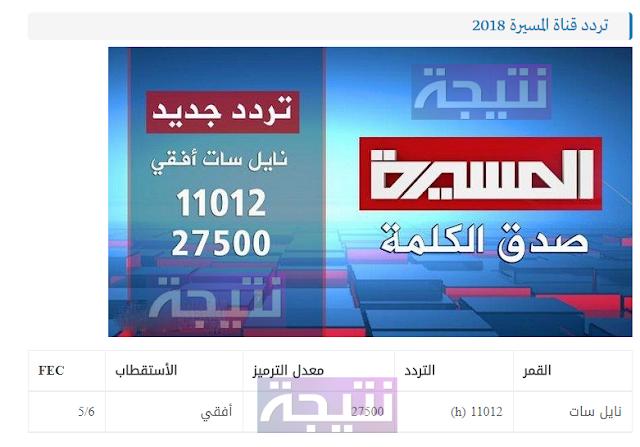 تردد قناة المسيرة 2018 اليمنية الجديد بعد الحجب