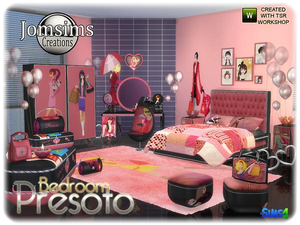 My Sims 4 Blog Presoto Girly Bedroom Set By Jomsims