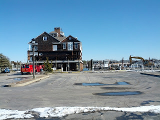 Bay Head Yacht Club building atop new pilings.
