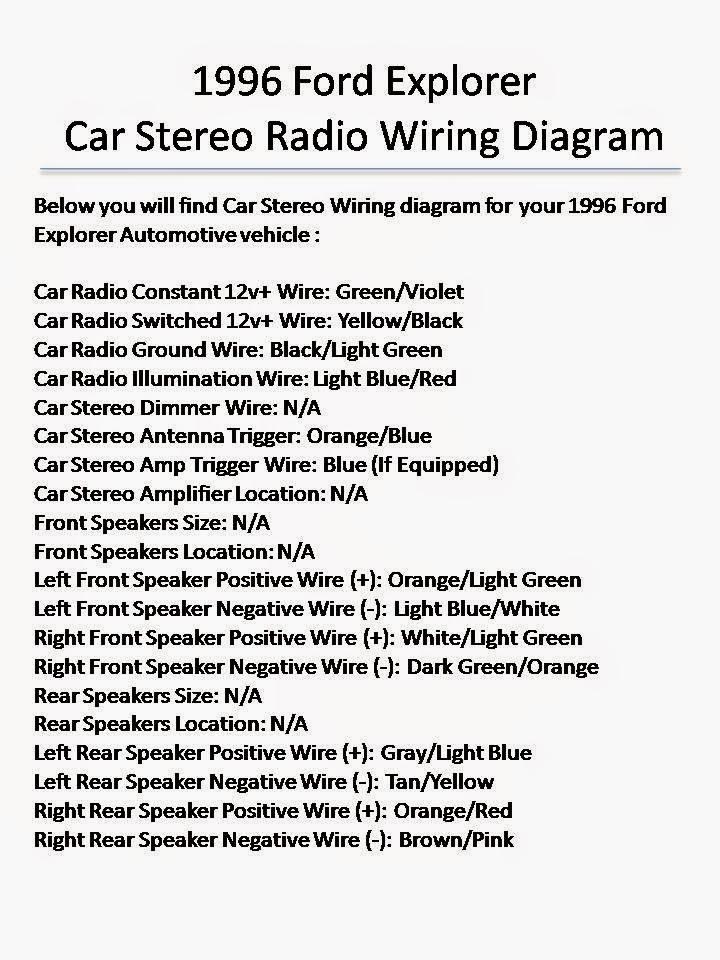 2002 Ford Explorer Sport Trac Stereo Wiring Diagram - Somurich