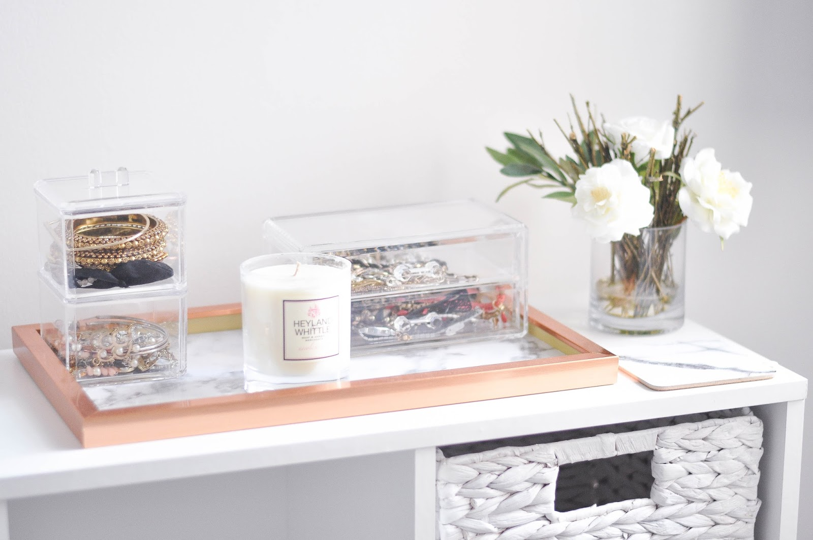 diy marble and copper tray gemsies. Black Bedroom Furniture Sets. Home Design Ideas