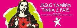 Cartaz pró-LGBT afirma que Jesus tinha dois pais