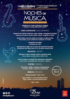 Cartel Noche de Música El Café del Gallery Gallery Hotel