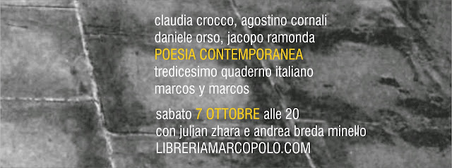 Poesia contemporanea alla MarcoPolo - sabato 7 ottobre