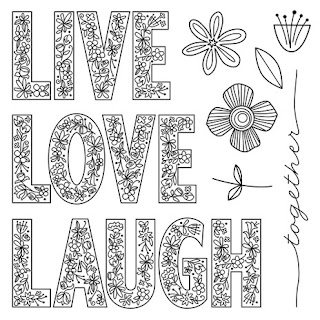 Stamp Of The Month LIVE LAUGH LOVE