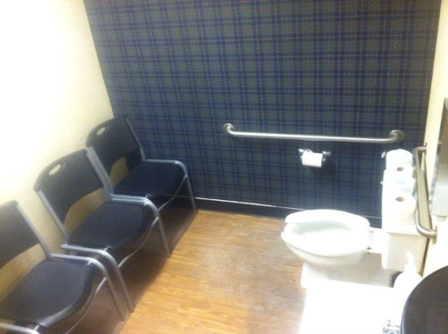 My Friend Sent Me This Picture. He Called It The Most Judgmental Bathroom